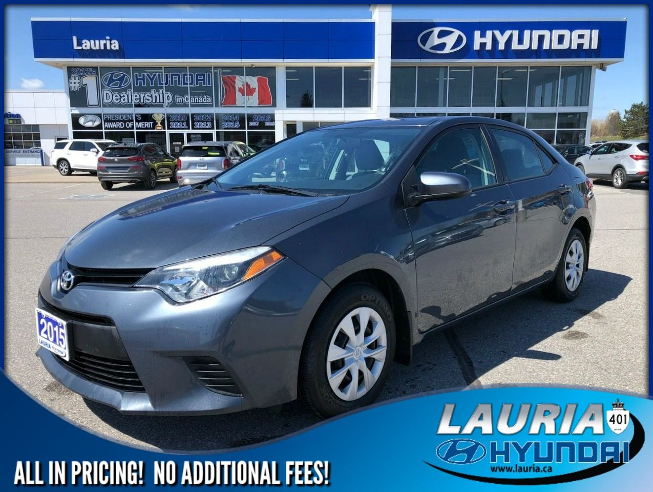 Pre-Owned 2015 Toyota Corolla CE - LOW KMS