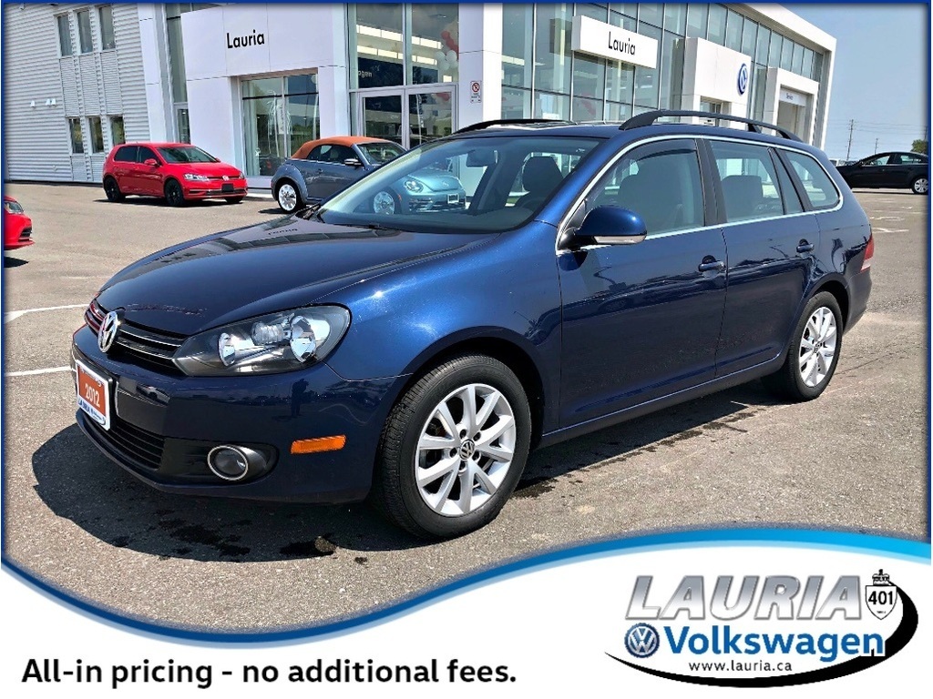 Certified Pre-Owned 2012 Volkswagen Golf Wagon 2.0 TDI Comfortline - Low kms