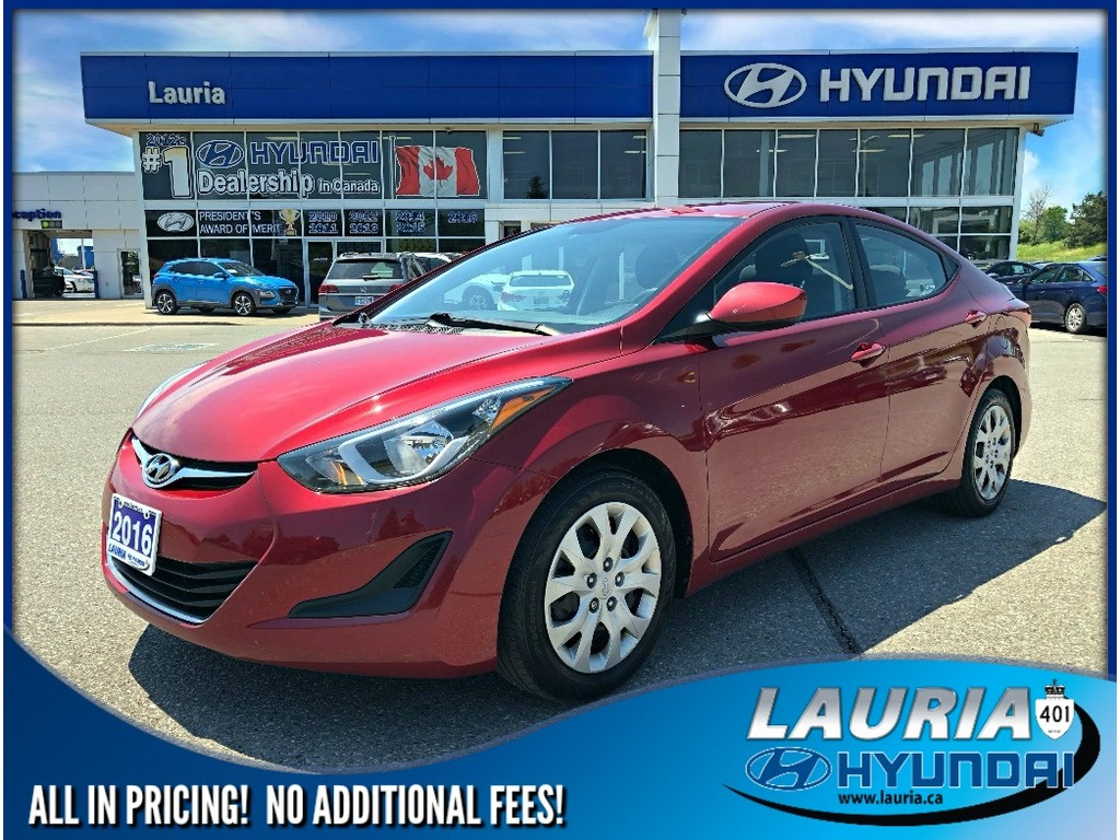Certified Pre-Owned 2016 Hyundai Elantra GL Auto - Heated seats / Bluetooth