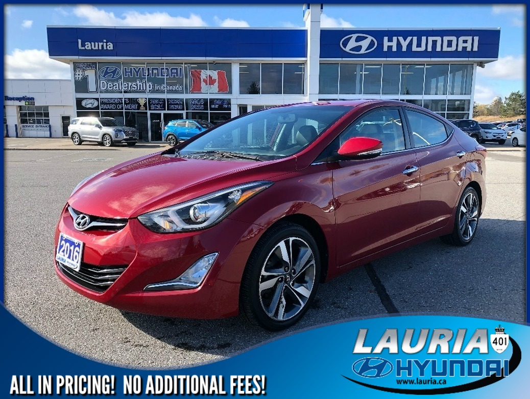 Certified Pre-Owned 2016 Hyundai Elantra Limited Auto - Navigation / Leather