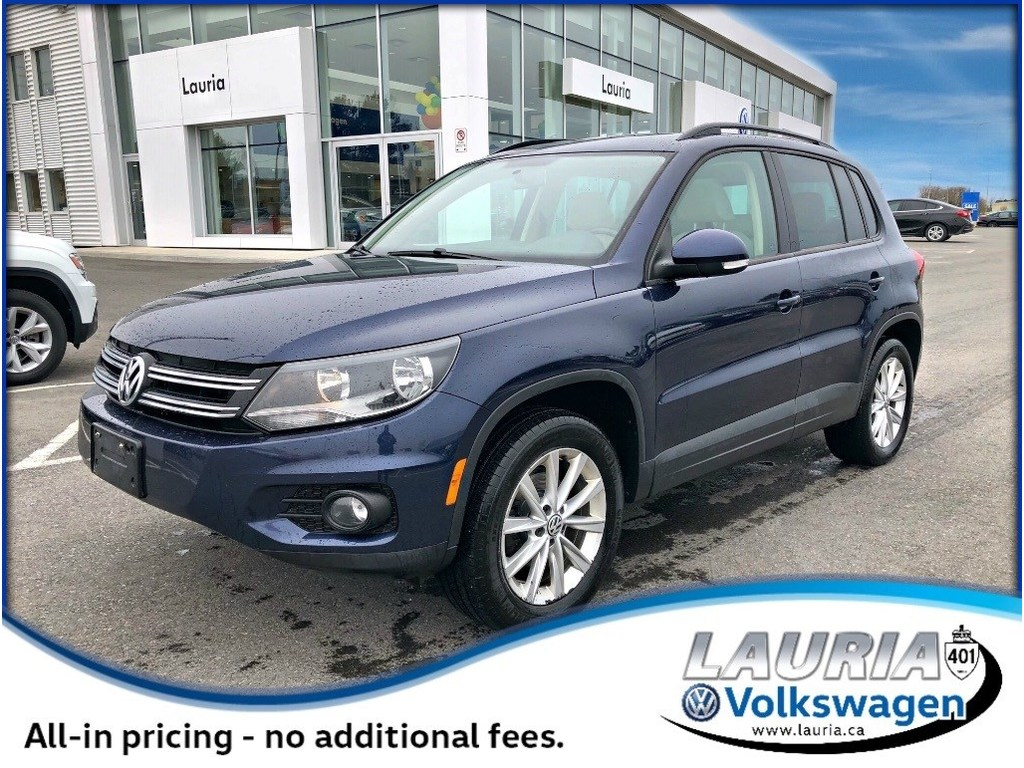 Certified Pre-Owned 2015 Volkswagen Tiguan 2.0T Comfortline 4Motion AWD 1-owner