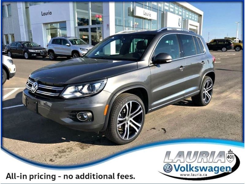 New 2017 Volkswagen Tiguan 2 0t Highline R Line 4motion Awd